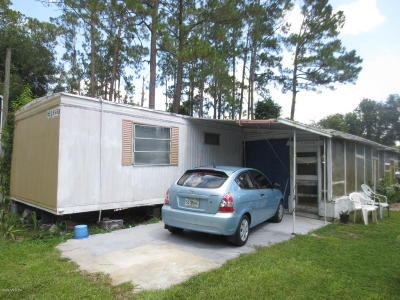 Silver Springs Mobile/Manufactured For Sale: 18620 SE 21st Place