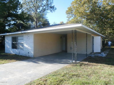 Ocala FL Single Family Home For Sale: $89,900