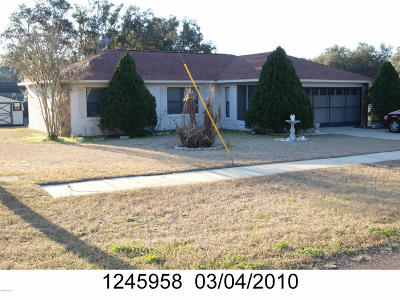 Dunnellon Single Family Home For Sale: 9291 N Mitchelle Drive
