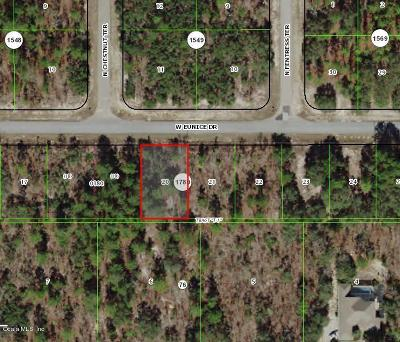Citrus County Residential Lots & Land For Sale: 3622 W Eunice Drive