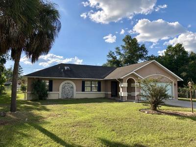 Ocala FL Single Family Home For Sale: $169,900