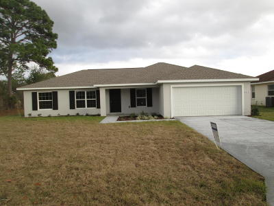 Marion Oaks North Single Family Home For Sale: 12771 SW 67th Avenue