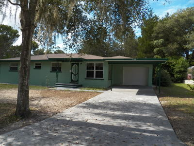 Citrus County Single Family Home For Sale: 11960 N Ellisworth Terrace