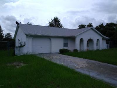 Ocala Single Family Home For Sale: 15741 SW 19th Avenue Road