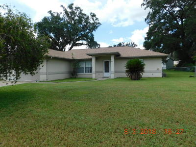 Belleview Single Family Home For Sale: 6071 SE 125th Place