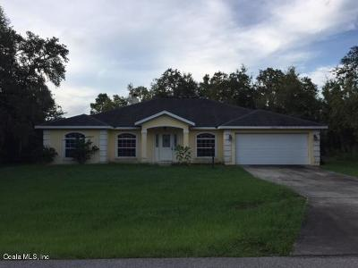 Dunnellon Single Family Home For Sale: 21933 SW Beach Blvd