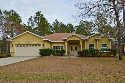 Citrus County Single Family Home For Sale: 7807 N Turf Way