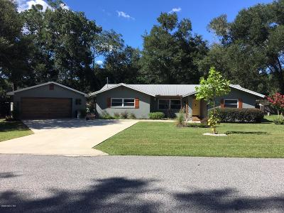 Dunnellon Single Family Home For Sale: 10093 N Ocean Drive