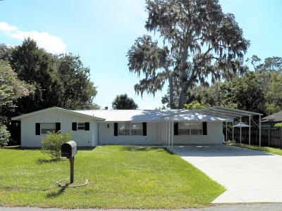 Dunnellon Single Family Home For Sale: 11603 Osage Road