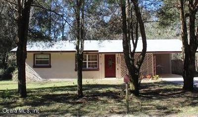 Dunnellon Single Family Home For Sale: 2464 SW Westview Ave