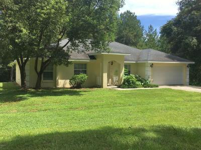 Citra Single Family Home For Sale: 1155 NW 122nd Lane