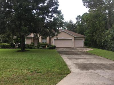 Dunnellon Single Family Home For Sale: 9599 SW 195 Circle