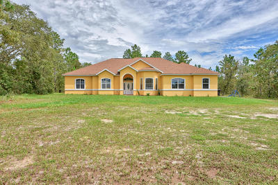 Dunnellon Single Family Home For Sale: 12211 SW 80th Street