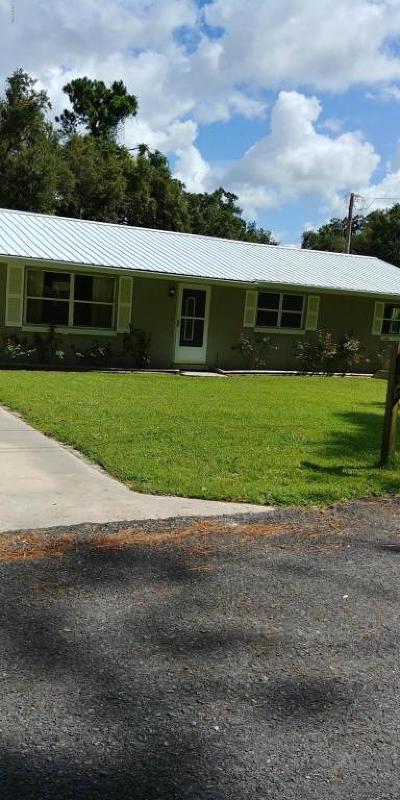 Ocklawaha Single Family Home For Sale: 13201 SE 120th Street