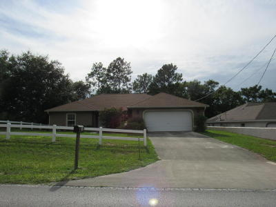 Ocala Single Family Home For Sale: 2800 SW 140th Avenue