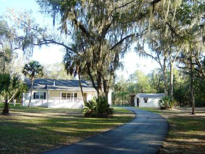 Dunnellon Single Family Home For Sale: 11745 SW 233rd Terrace Road