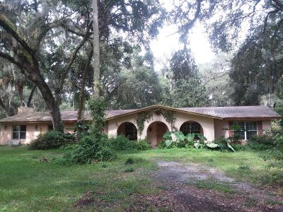Citra Single Family Home For Sale: 7071 E Hwy 318