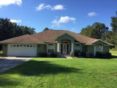 Dunnellon Single Family Home For Sale: 12726 SW 99th Lane
