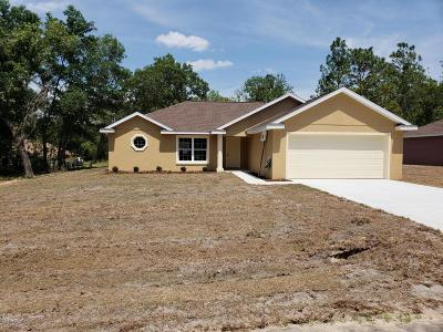 Belleview Single Family Home For Sale: 12624 SE 53rd Terrace Road
