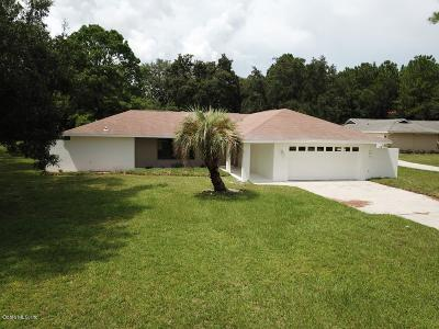 Dunnellon Single Family Home For Sale: 19699 SW 88th Place Road