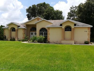 Ocala Single Family Home Sold: 7510 SW 100th Street