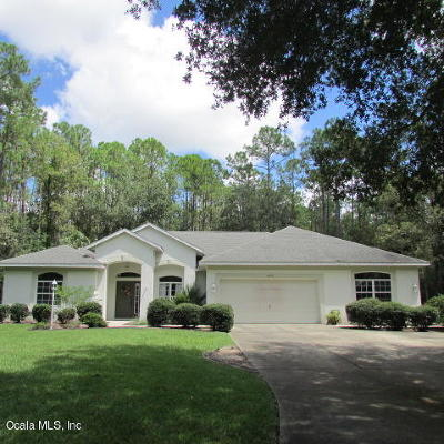 Dunnellon Single Family Home For Sale: 21650 SW 89th Street