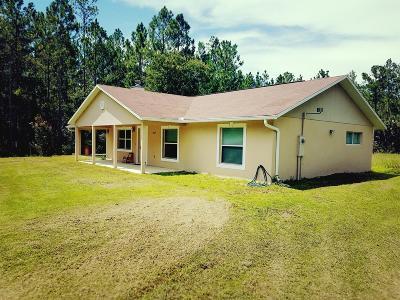 Fort McCoy Single Family Home For Sale: 12829 NE 105th Street