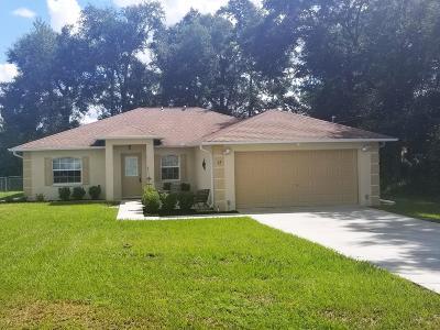 Ocala Single Family Home For Sale: 13 Chestnut Run