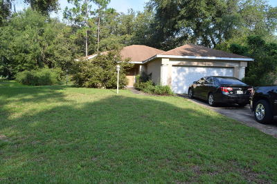 Dunnellon Single Family Home For Sale: 10090 SW 189th Court