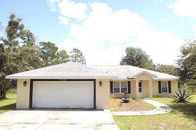 Dunnellon Single Family Home For Sale: 355 NW Timberlake Road