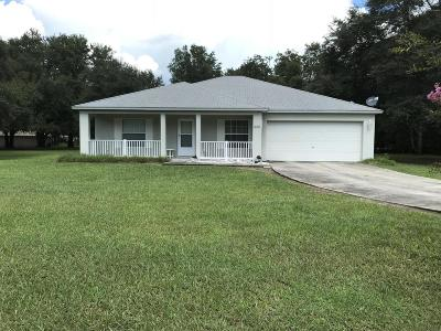 Dunnellon Single Family Home For Sale: 13185 SW 115th Place
