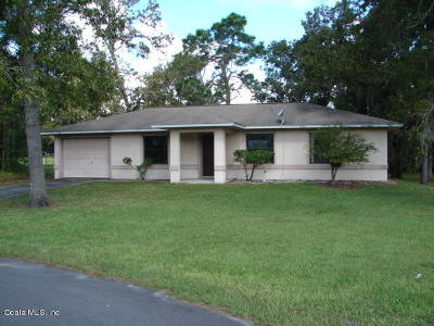 Ocala Single Family Home For Sale: 54 Pecan Drive Pass
