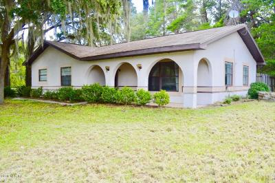Dunnellon Single Family Home For Sale: 3767 SW Shorewood Drive
