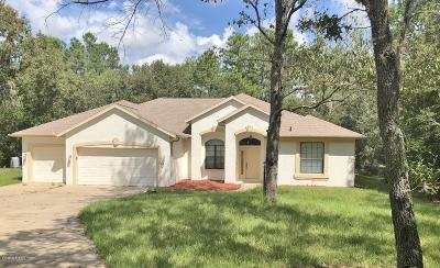 Dunnellon Single Family Home For Sale: 20365 SW 86th Loop