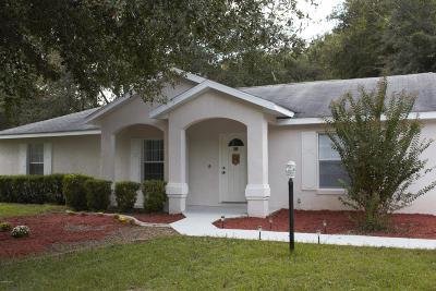 Ocala FL Single Family Home For Sale: $145,000