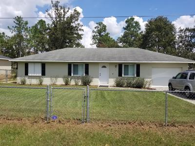 Ocala Single Family Home For Sale: 3 Pecan Pass