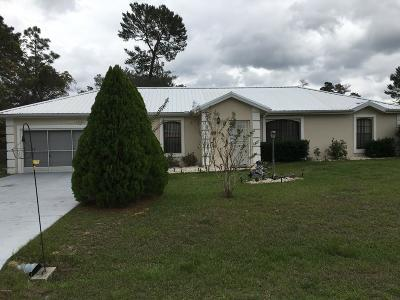 Ocala Single Family Home For Sale: 2511 SW 154th Place Road