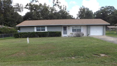 Belleview Single Family Home For Sale: 6045 SE 119th Place Place