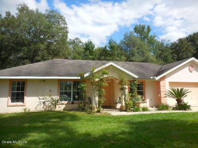 Ocala Single Family Home For Sale: 12215 NW 100th Street