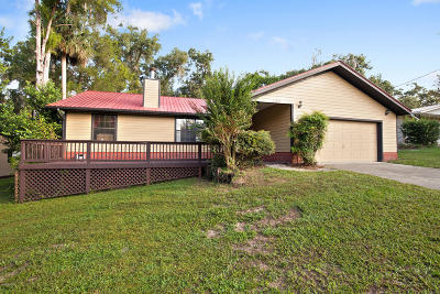 Dunnellon Single Family Home For Sale: 21229 Palatka Drive