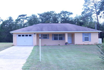 Dunnellon Single Family Home For Sale: 8454 SW 203rd Court