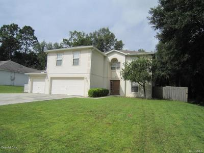 Citrus County Single Family Home For Sale: 8380 N Pocono Drive