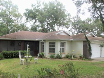 Dunnellon Single Family Home For Sale: 10188 SW 188 Circle
