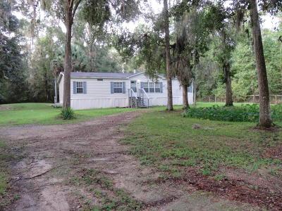 Williston FL Single Family Home For Sale: $79,900