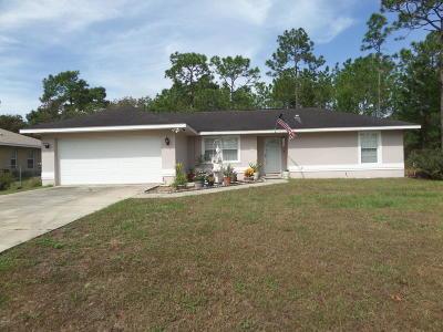 Ocala Single Family Home For Sale: 56 Bahia Trace