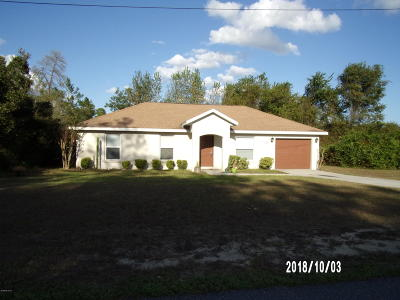 Ocala Single Family Home For Sale: 14893 SW 24th Circle