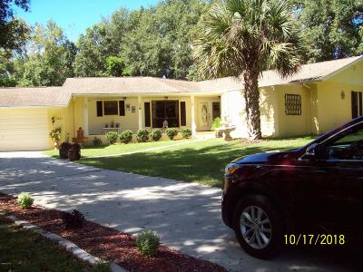 Dunnellon Single Family Home For Sale: 8826 N Golfview Drive
