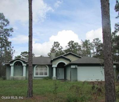 Dunnellon Single Family Home For Sale: 23851 NW Water Oak Avenue