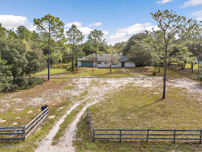 Dunnellon Single Family Home For Sale: 5355 SW 183rd Terrace