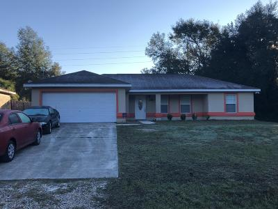 Ocala FL Single Family Home For Sale: $210,000